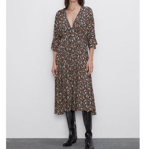 Zara Paisley Print Midi Dress